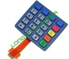 Silicone keypad with right and flexible PCB Assembly